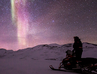 Searching Aurora with Santa's Sleigh