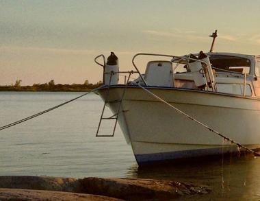 Boating on River of Kemijoki